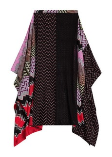 Missoni Draped Midi-Skirt with Patchwork Print