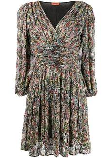 Missoni draped waisr dress