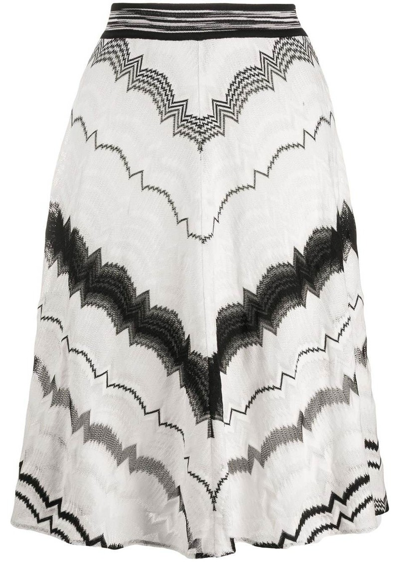 Missoni elasticated intarsia knit skirt