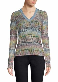 Missoni Embroidered Zig-Zag Sweater