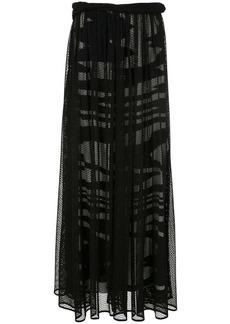 Missoni fishnet long skirt