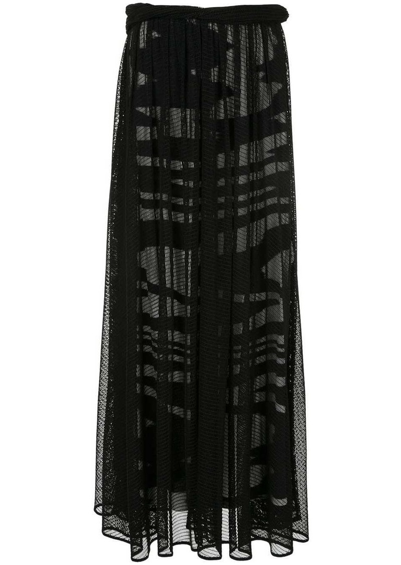Missoni fishnet long skirt