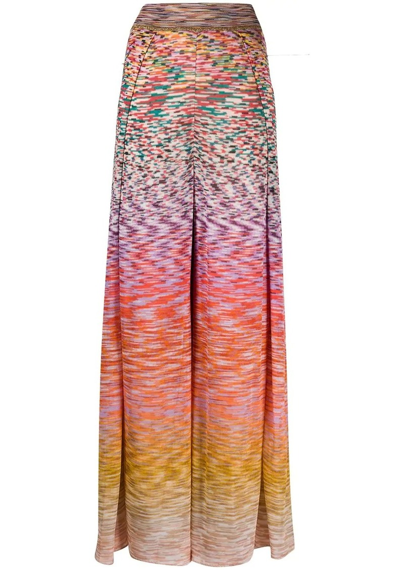 Missoni flared leg ombré knit trousers
