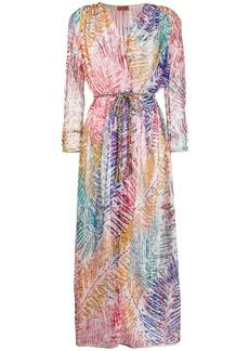 Missoni foliage print maxi kimono