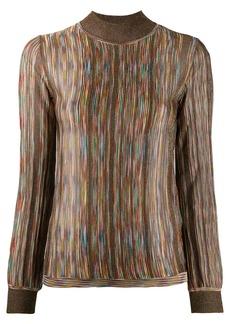 Missoni funnel neck intarsia knit sweater