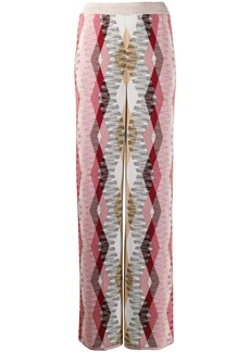 Missoni geometric knit flared trousers