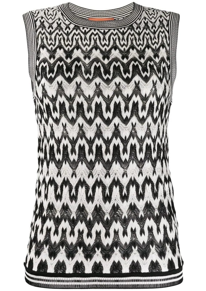 Missoni geometric knit jumper