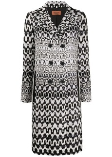 Missoni geometric pattern double-breasted coat