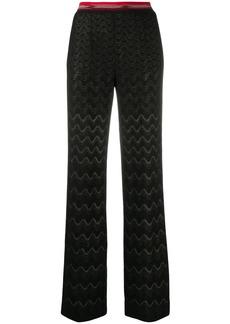 Missoni geometric-pattern knit trousers