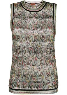 Missoni geometric pattern knitted top