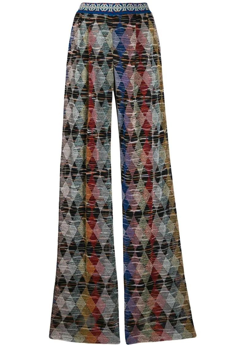 Missoni geometric print palazzo trousers