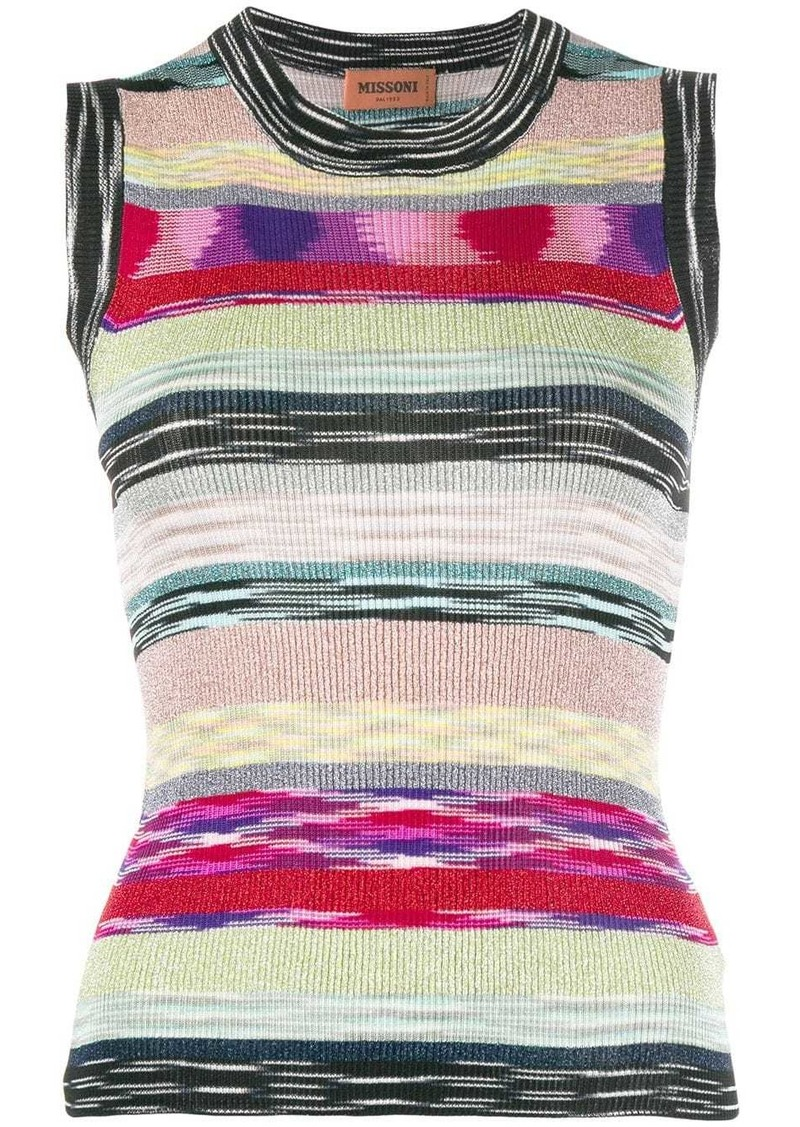 Missoni glitter stripe sleeveless top