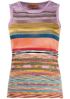 Missoni glitter striped tank top