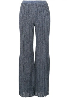 Missoni glittery effect pleated trousers