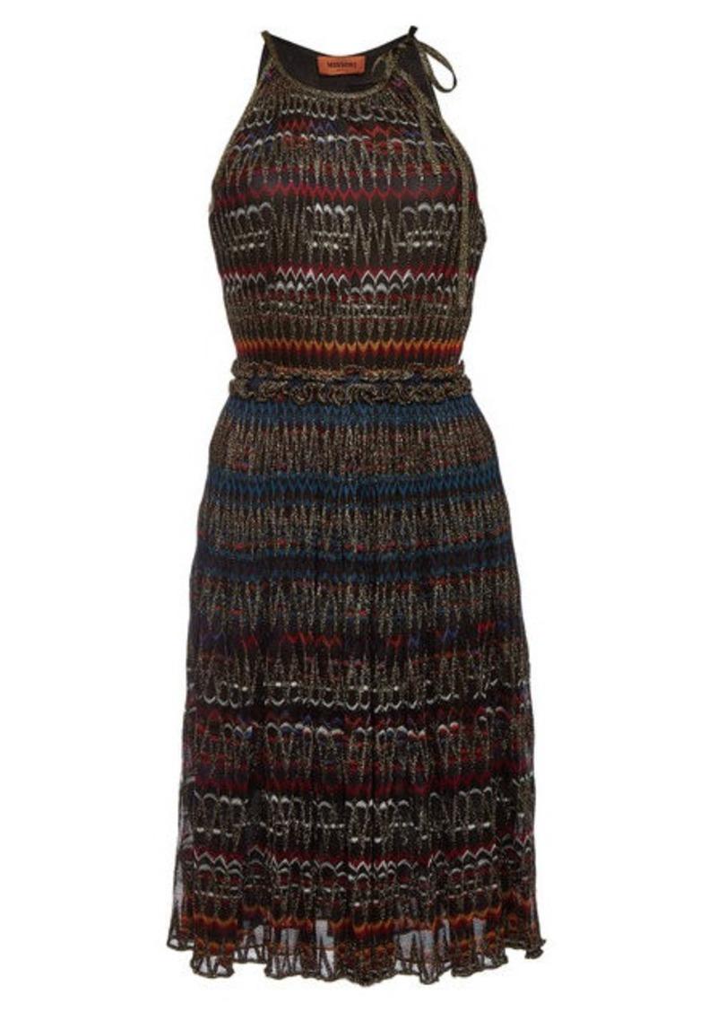 a809862a138dc SALE! Missoni Halter Dress with Metallic Thread