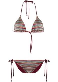 Missoni halter neck striped bikini set