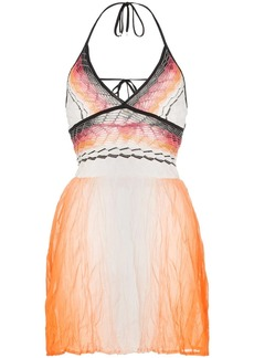 Missoni halterneck ombre dyed cotton dress
