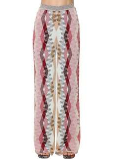 Missoni High Waist Stretch Knit Wide Leg Pants
