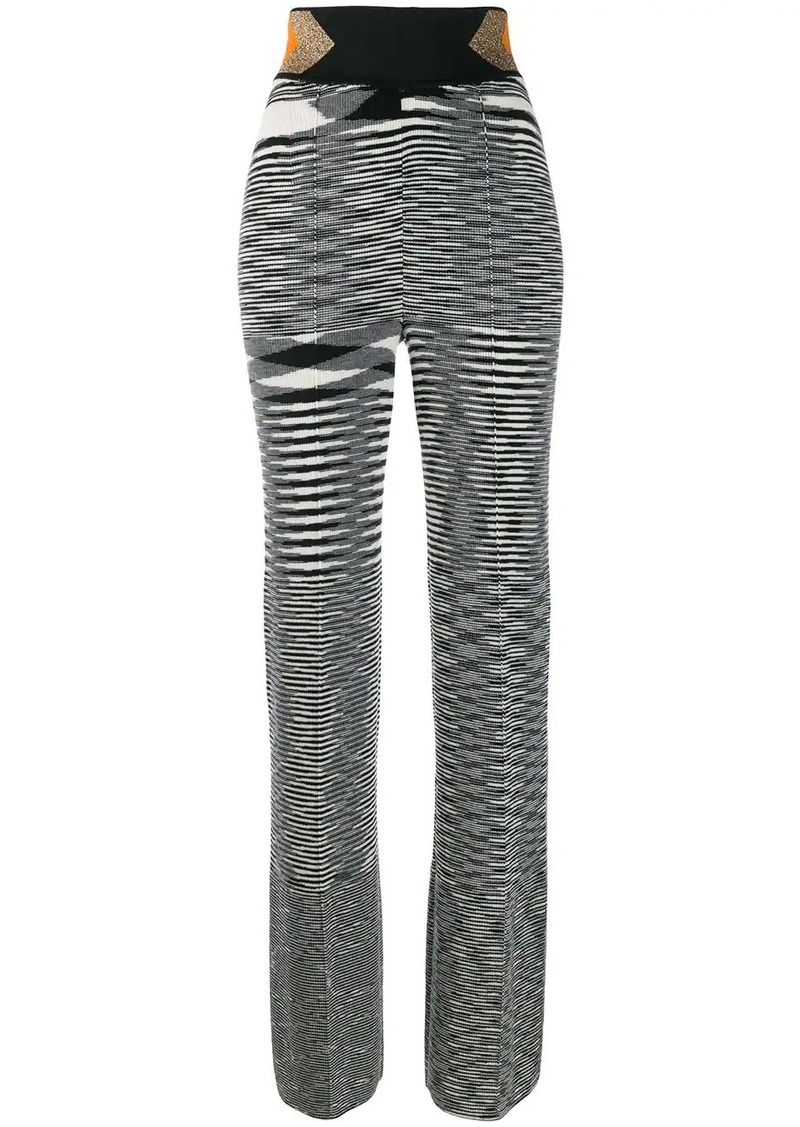 Missoni high waisted knitted trousers