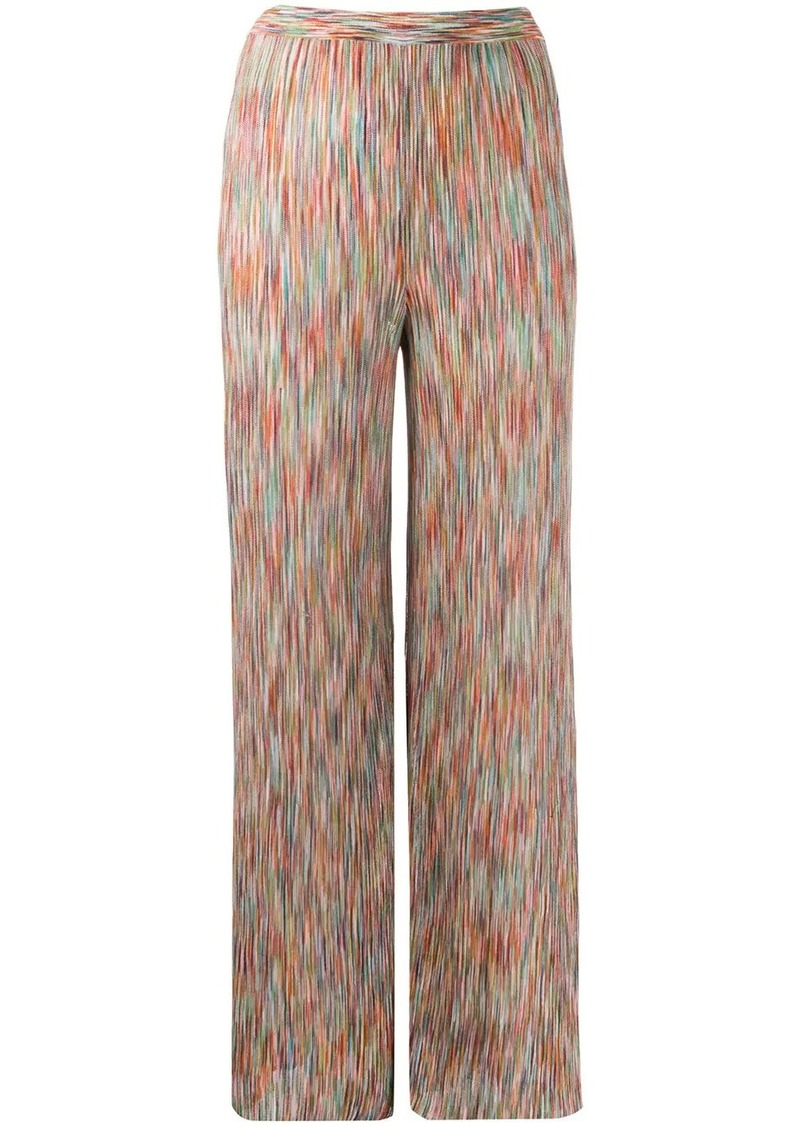 Missoni intarsia knit flared trousers
