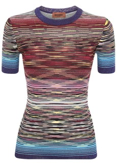 Missoni Intarsia Knit Lurex Crewneck Top
