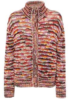 Missoni Intarsia Knit Wool Blend Cardigan