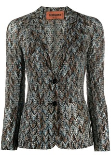 Missoni jacquard-effect fitted jacket