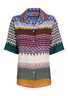 Missoni Knit Chevron Short Sleeve Shirt