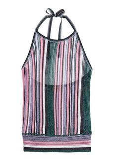 Missoni Knit Halter Top with Metallic Thread