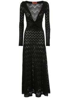 Missoni Knit Intarsia Wool Blend Midi Knot Dress