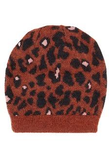 Missoni Rust Leopard Print Hat