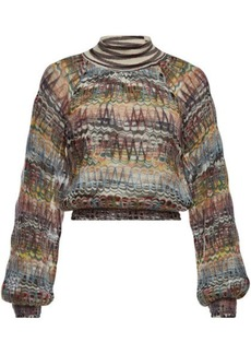 Missoni Knit Pullover with Mohair and Alpaca