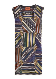 Missoni Knit Sleeveless Dress with Metallic Thread