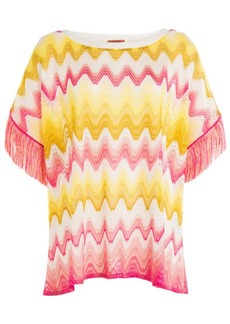 Missoni Knit Tunic Top with Fringing