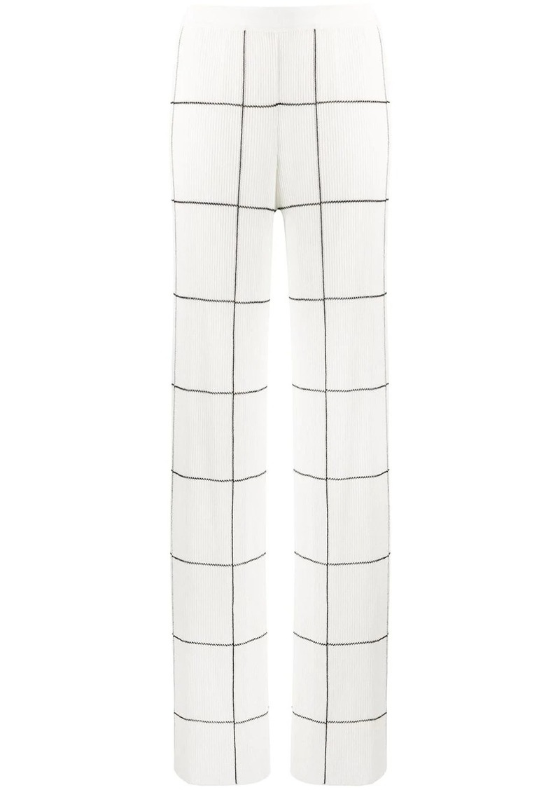 Missoni knitted grid-print wide trousers