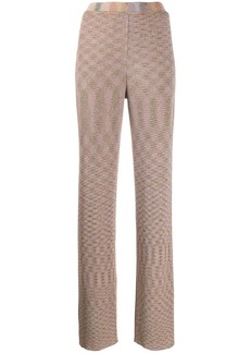 Missoni knitted metallic flared trousers