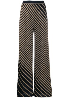 Missoni knitted metallic striped trousers