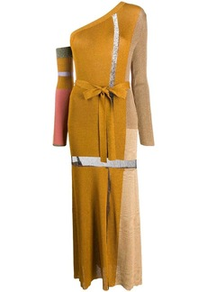 Missoni knitted one-shoulder dress