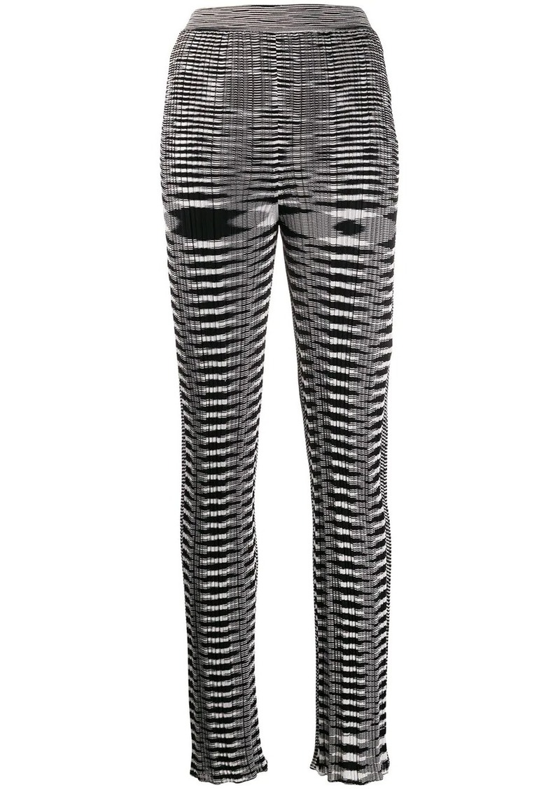 Missoni knitted patterned leggings