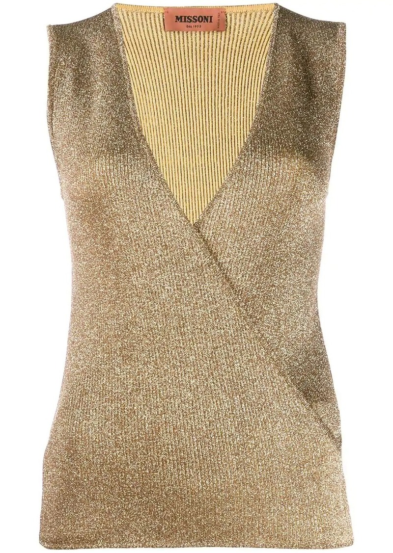 Missoni knitted vest top