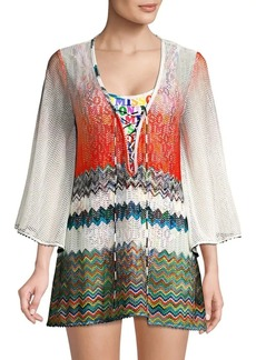 Missoni Lace-Up Beach Coverup
