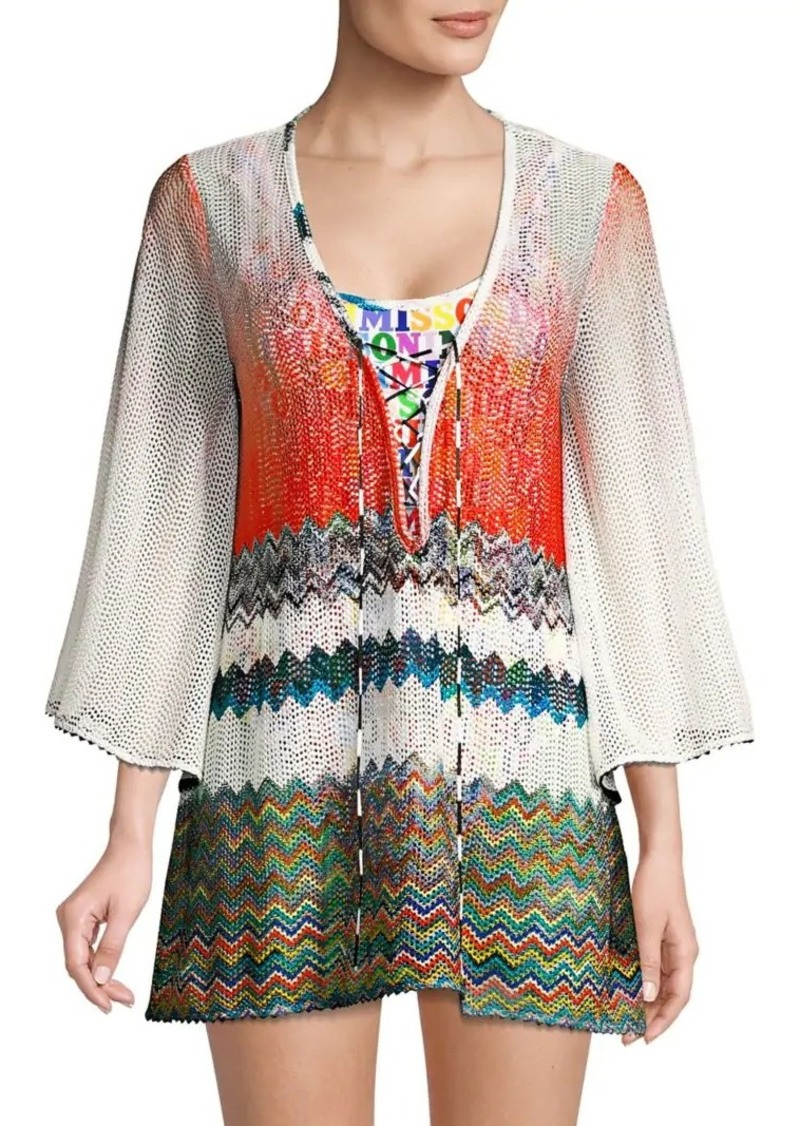 f52fff4a93 Missoni Lace-Up Beach Coverup | Swimwear