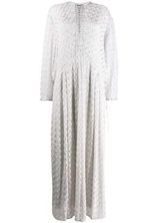 Missoni lace-up detail dress