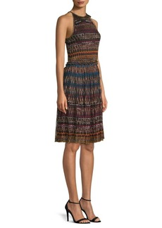 Missoni Lamé Halter Zig-Zag Dress