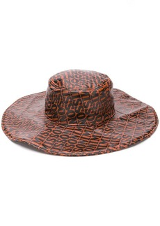 Missoni logo print wide-brim hat