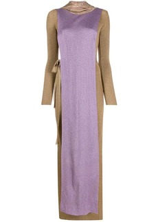 Missoni long layered knit dress
