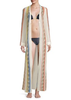 Missoni Long Open Front Striped Caftan