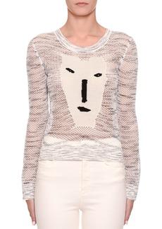 Missoni Long-Sleeve Crochet Face Intarsia Sweater