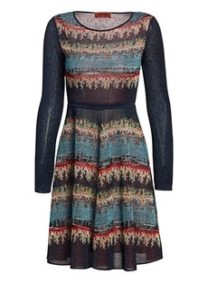 d8fd22ced6 Missoni Patchwork Jacquard Turtleneck Sweater Dress