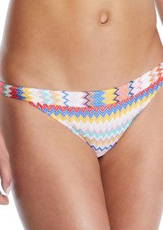 Missoni Low-Rise Zigzag Hipster Swim Bikini Bottoms